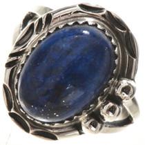 Dark Blue Lapis Sterling Ring