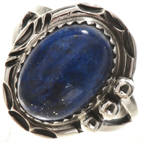 Dark Blue Lapis Sterling Ring 28748