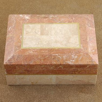 Quality Inlaid Marble High Fashion Jewelry Box