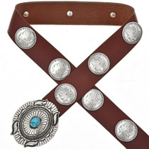 Morgan Silver Dollar Concho Belt 17694