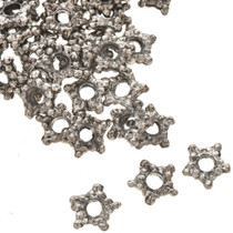 1 Ounce of 1 X 6 mm Silver Bali Beads 0057