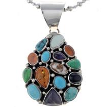 Multi Gemstone Navajo Pendant 24709