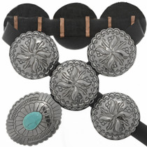 Turquoise Silver Concho Belt 14556