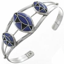 Inlaid Lapis Silver Bracelet 28415
