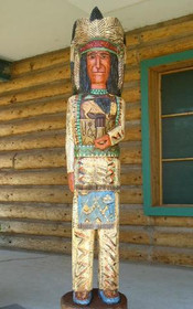 Six Foot Wooden Indian