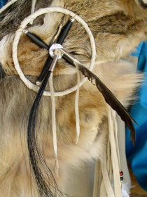 Plains Indian Coyote Fur Quiver Arrows Curtis Bitsui