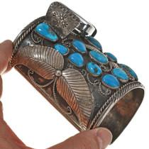 Vintage Ithaca Peak Turquoise Watch Cuff 0050