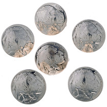 Genuine Nickel Buttons 24608