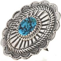 Gemstone Silver Concho Ring