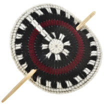 Navajo Wedding Basket Yarn Ponytail Holder 27759