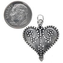 Sterling Silver Filigree Heart Charm Bracelet Charm Pendant Necklace
