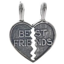 Sterling Silver Best Friends Break-Away Heart Charm