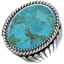 Navajo Turquoise Mens Ring 0117