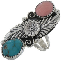 Blue Turquoise Angelskin Coral Ring 22162