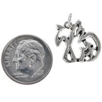 Sterling Silver Luck Charm Bracelet Pendant Necklace