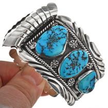 Vintage Kingman Turquoise Navajo Watch Cuff 29276