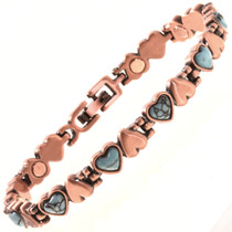 Copper Heart Tennis Bracelet 28737