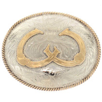 Double Horseshoe Belt Buckle 2344