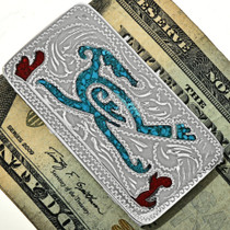 Turquoise Coral Money Clip 29277