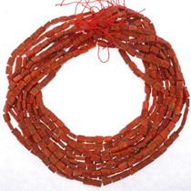 Red Orange Slab Beads 25624
