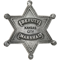 Deputy Marshal Wichita Kansas Star Badge 29186
