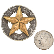 Silver and Gold Star Concho