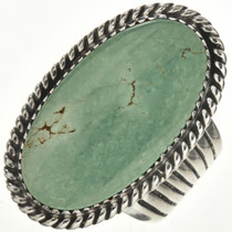Green Turquoise Silver Ring 28952