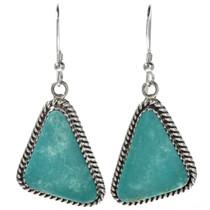 Turquoise Silver Navajo Earrings