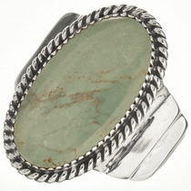 Green Turquoise Silver Mens Ring 28954