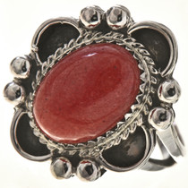 Red Mountain Jade Silver Ladies Ring