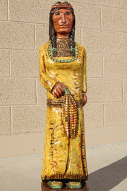 Cigar Store Wooden Indian Maiden by Frank Gallagher 3 Footer