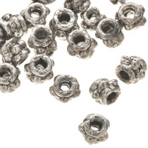 1 Ounce of 3mm x 4mm Silver Bali Bead Spacers 0195