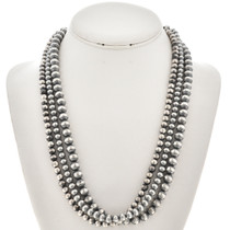Three Strand Old Pawn Style Bead Necklace 24573