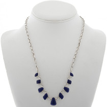 Lapis Silver Link Necklace 27700