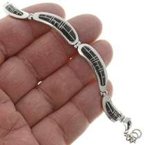 Inlaid Silver Bracelet