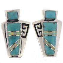 Turquoise Opal Post Earrings 25604