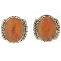 Spiny Oyster Silver Post Earrings 10736