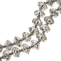 16mm x 14mm Silver Findings Filigree Bali Beads 8-1/4 inch Long Strand 0165