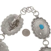 Navajo Silver Link Turquoise Belt 23630