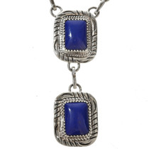 Lapis Silver Southwest Necklace Choker 29564