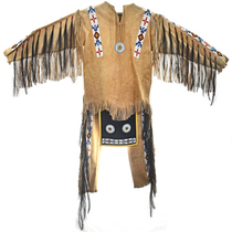 Plains Indian Beaded Buckskin Mens Outfit