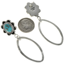 Brushed Silver Hoop Earrings 27290