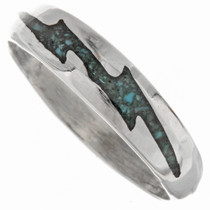 Silver Turquoise Lightning Bolt Ring 27379