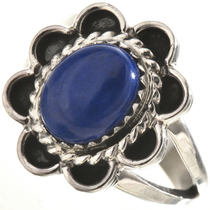 Blue Lapis Silver Ring 28663