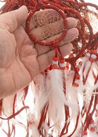 Navajo Buckskin Dreamcatcher 27570