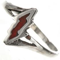 Coral Lightning Bolt Ring 28820