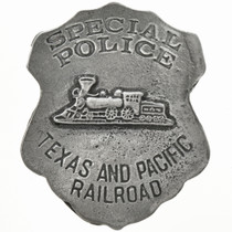 Texas Pacific Railroad Police Badge 29196