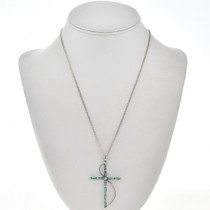 Old Pawn Style Turquoise Cross Pendant 28832