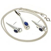 Sterling Silver Teardrop Pendant Set 28350