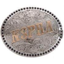 Custom Silver Gold Trophy Belt Buckle 22105